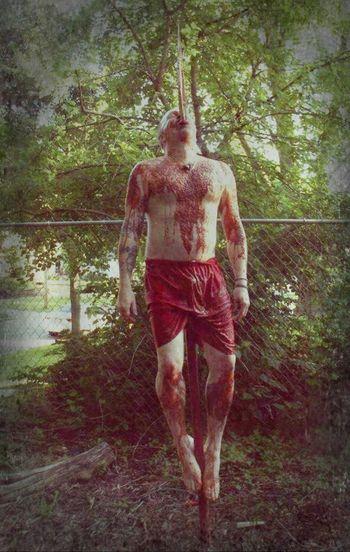 Death Impaled Gorey Gore Blood Tortured