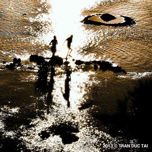 River Sunset Backlight Photojournalism