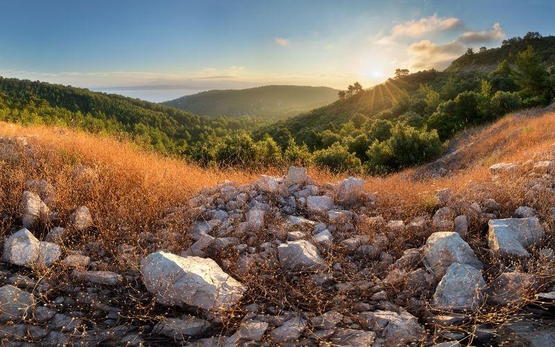 Korčula Cloud - Sky Environment Landscape Mountain Nature Rock - Object Scenics - Nature Sky Sunlight Tree