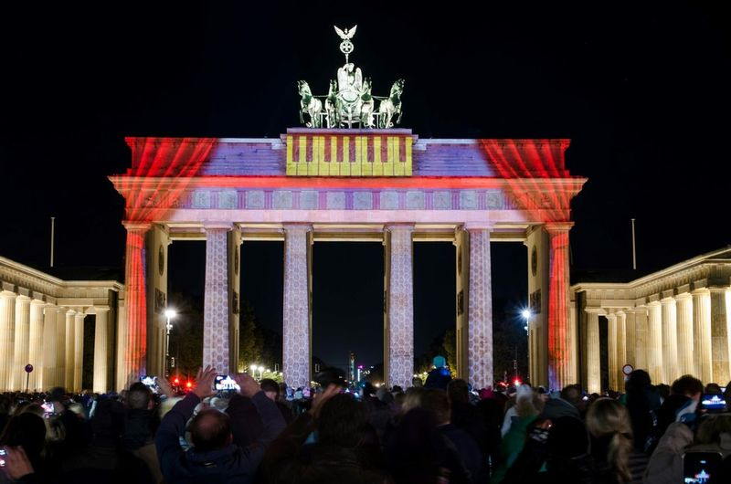 Festival of Lights My Berlin  Urban Landscape My Fucking Berlin Berlin Germany Hello World At The Branderburg Gate In Berlin Brandenburger Tor