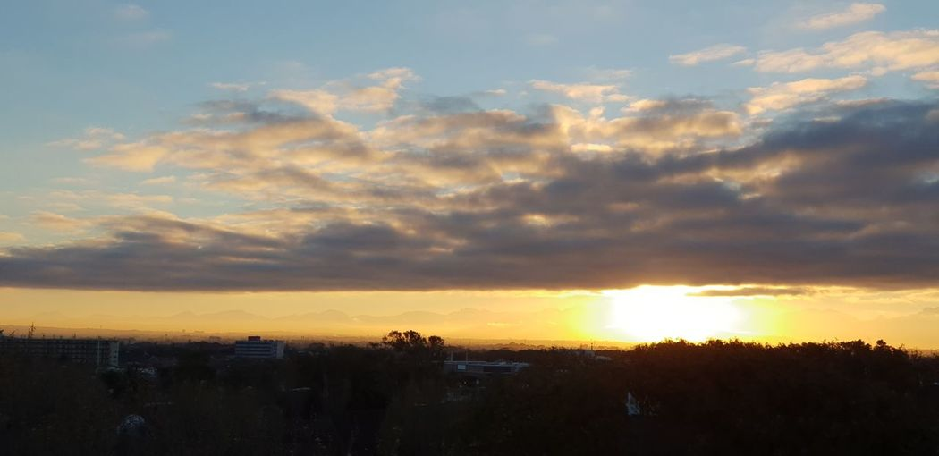Sunrise Sunrise Silhouette Silhouette Sunlight Multi Colored Sky Landscape Cloud - Sky Shining Sky Only Cloudscape