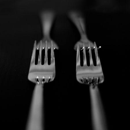 Fork Close-up Indoors  No People Black Background Dinner The Week On EyeEm Dinner Time Dinner Table Dinnertime Tableware Tablewares