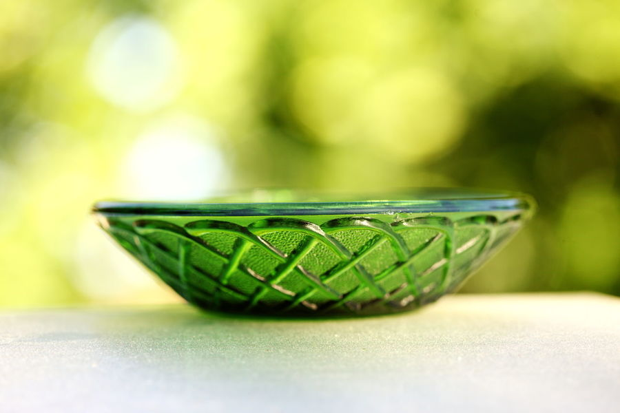 Dish Retro Bowl Close-up Container Day Focus On Foreground Food And Drink Glass Green Color Nature No People Selective Focus Single Object Still Life Table Vintage Wellbeing