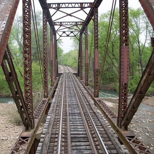 Taken on a train, please dont trespass on railway bridges. Train Tracks Bridge Railroad Railway Arkansas