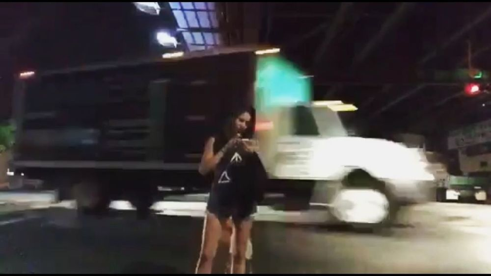 Truck Night Real People Car Illuminated One Person Young Adult Lifestyles Full Length Standing Built Structure Wireless Technology Young Women