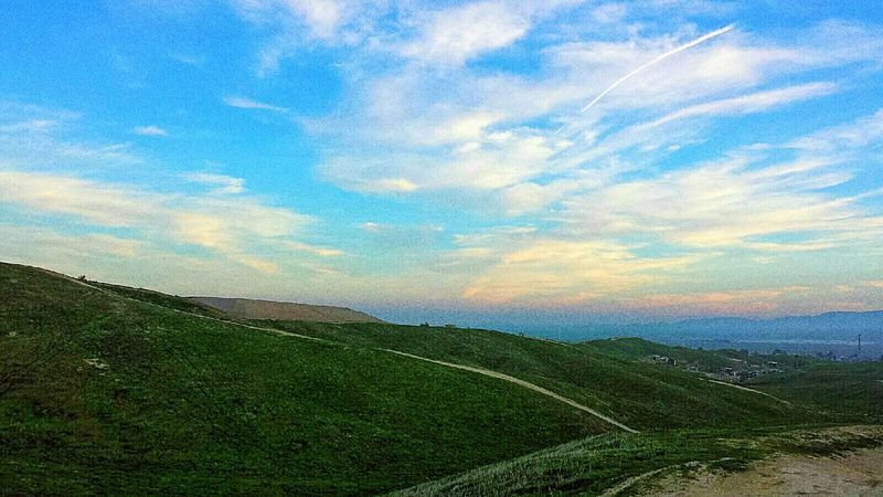 The Great Outdoors Beautiful Sky Rainbow Sky Green Hills I Love Sunsets Northern California Foothills Valley View Smalltownlife
