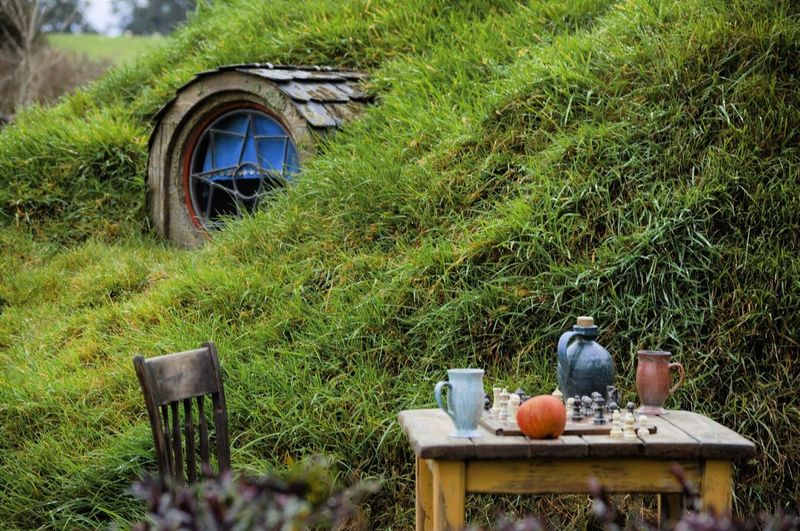 Hobbiton Lord Of The Rings LOTR New Zealand New Zealand Landscape PNW PNWonderland Grass Chair No People Green Color Nature Teapot Outdoors Day Pot