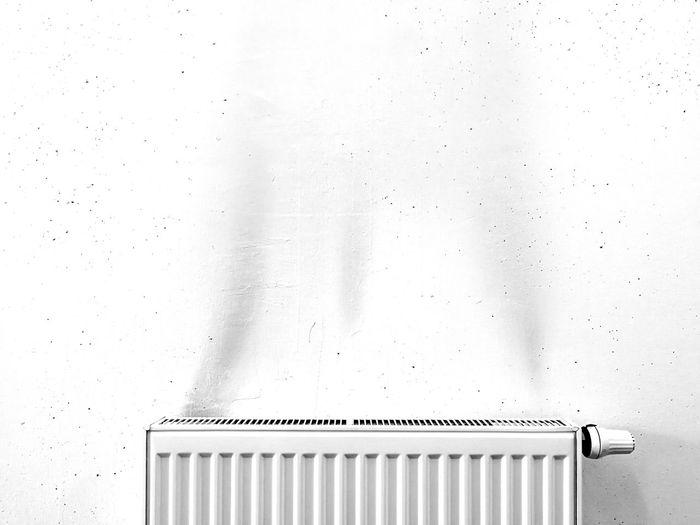 Radiator Against White Wall