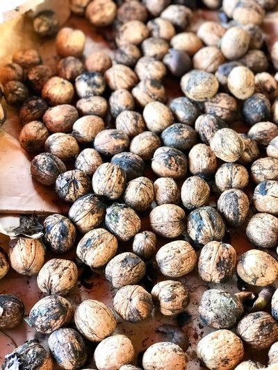 Healthy Eating Food Vegetable Food And Drink Vegetarian Food No People Backgrounds Eating Freshness Nature Close-up Outdoors Day Wallnut Nuts Large Group Of Objects Textured  Dieting Nature Food And Drink