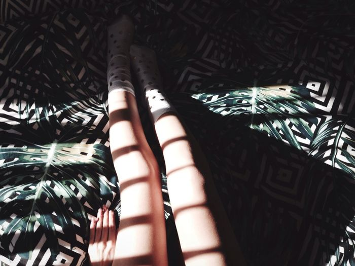 Human Leg One Person Pattern Indoors  Lifestyles Real People Human Body Part Bed Women Low Section Human Hand Close-up Day Legs Girl Minimal Morning Window Shadow Shadows & Lights Light Colour Light And Shadow The City Light Minimalist Architecture The City Light Breathing Space Capture Tomorrow