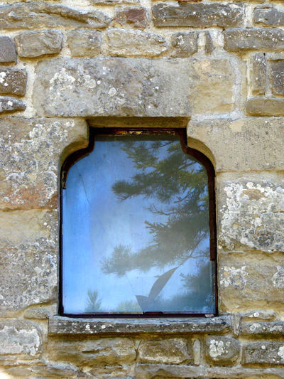 Architecture Bad Condition Badia Tedalda Church Glass - Material Italy Medieval Old Reflection Stone Tuscany Wall Window