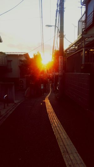 Road that Leads to Thesun ! Hello World Tokyo,Japan Sunset Orange