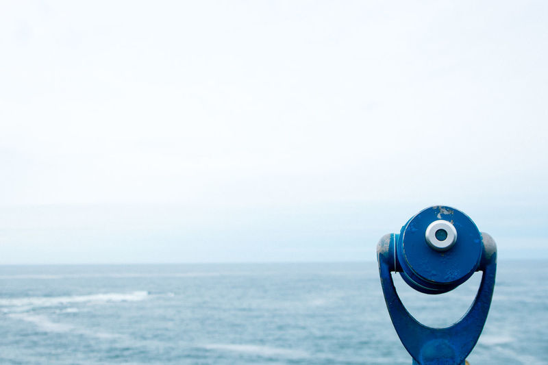 binocular over the ocean Backgrounds Beauty In Nature Binoculars Blue Close-up Coin-operated Binoculars Day Hand-held Telescope Horizon Over Water Look Out Nature No People Ocean Oregon Outdoors Scenics Sea Sky Technology Telescope Travel Wanderlust Water My Year My View