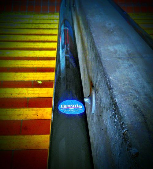 My Commute Primary Election Day Feel The Bern!!! Bernie Supporter Bernie Sanders Sticker San Francisco CA🇺🇸 24th Street  Bart Station Stairs Morning Day Commute My Point Of View Subway Station Bart Is Hiring Subway Photography Bernie Sanders For Presient Bernie2016 Bernie Sanders Sticker Bernie Supporter Vote Bernie Public Transportation Bart Rider Transportation Center