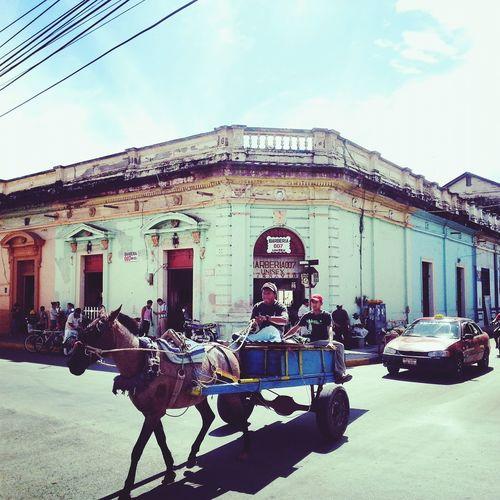 Nicaragua Going To An Exotic Place On The Road Stationwagon Connected By Travel