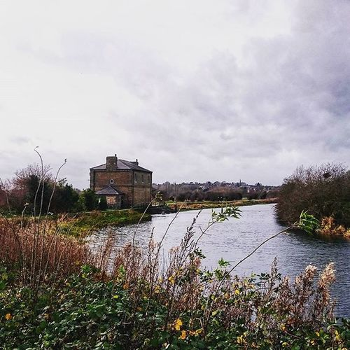 Walking along the canal, King's Mead, Ware.. Ware Kingsmead Hertfordshire Canal Water Picoftheday Picturesque Building Riverbank Overcast Walk December Winter ICAN Sonyxperia XperiaZ3