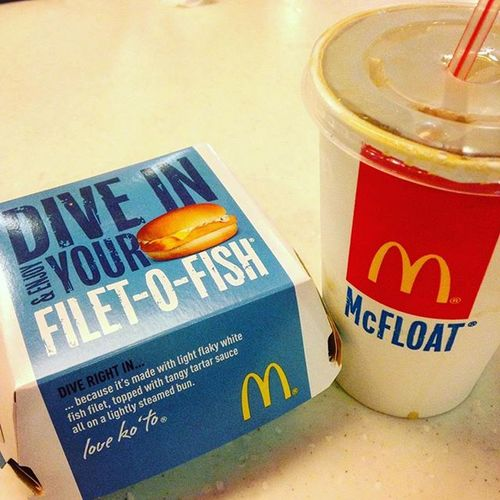 04/12/2016 Snack Afterpractice Mcdonals Filletofish Icedcoffee Show Us Your Takeaway!