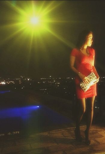 Rooftop Hotel View Aboveandbeyond Cityscapes Poolside Ladyinred Sightseeing