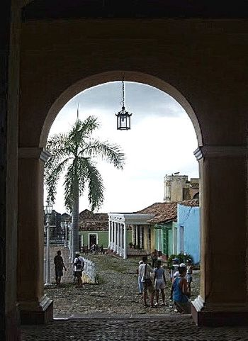 Cuba Through The Arch Through The Arched Window.... Landscape