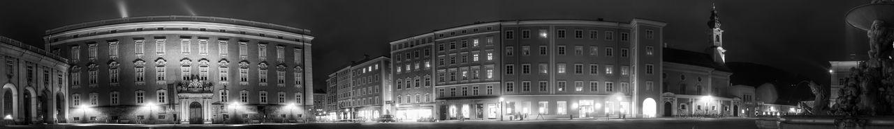 Alte Residenz Architecture B&w Street Photography Nightphotography Residenzplatz Salzburg Oldtown Salzburg, Austria Historical Building Historical Place Fountain Pano 180° Panoramashot Cities At Night