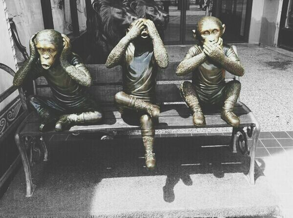 Check This Out Taking Photos Street Photography Edit my edit of the three wise monkeys... 'see no evil, hear no evil, speak no evil' ?