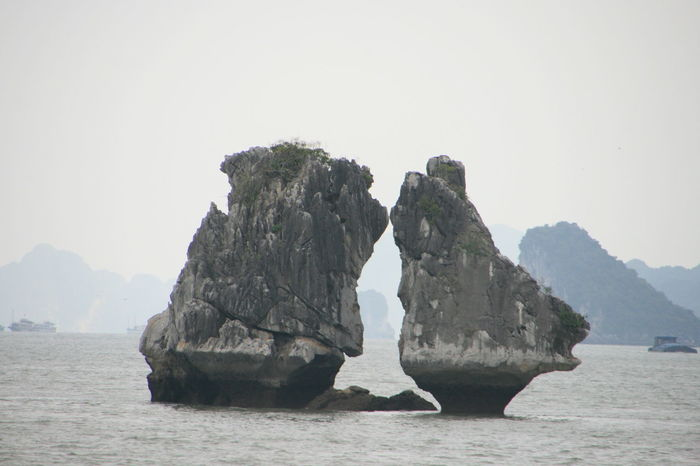 Outdoors Nature Beauty In Nature Sea Day Tourism Tourist Travel Destinations Halong Bay  Sea View Cloudy Vietnam Vietnam Travel Halong Bay  Seascape Mountains Halong Bay  Halong Bay Vietnam Halong Bay  Mountain Range Mountain Scenics Sea And Sky Landscape Leisure Activity