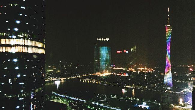Guangzhou Night View Landscape Enjoying Life Midnight Love City Taking Photos Hello World Lights