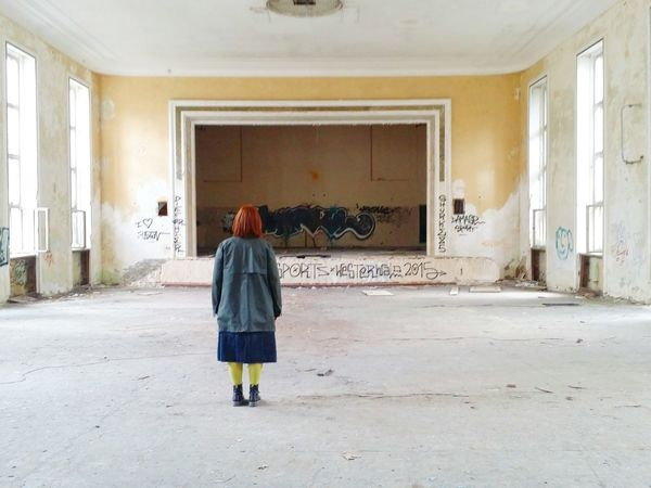 Vogelsang Derelict Building One Person Architecture Lost Places Spuky Rotten Places One Woman Only