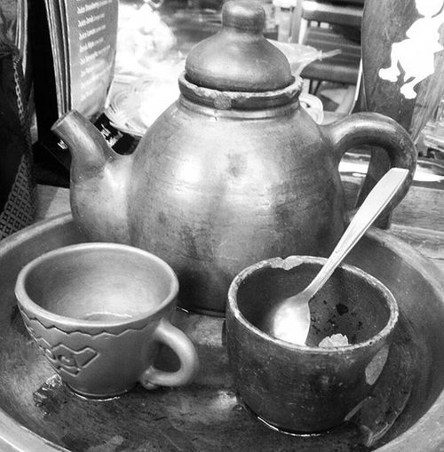 Indonesian traditional tea.. a brew tea served in a clay teapot.. INDONESIA Traditional Culture Culinary Traveling Jakarta