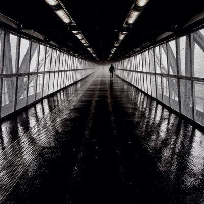 Caution, wet floor | taken with iPhone 5S | Youmobile Streetphotography Blackandwhite Streetphoto_bw