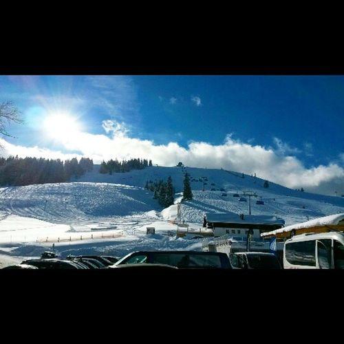 Bestes Wetter. Bester Ort. Dahoamisdahoam Skifahren Sudelfeld Skikurse arbeitsplatz toponsnow waspassierthier pistenflitzer