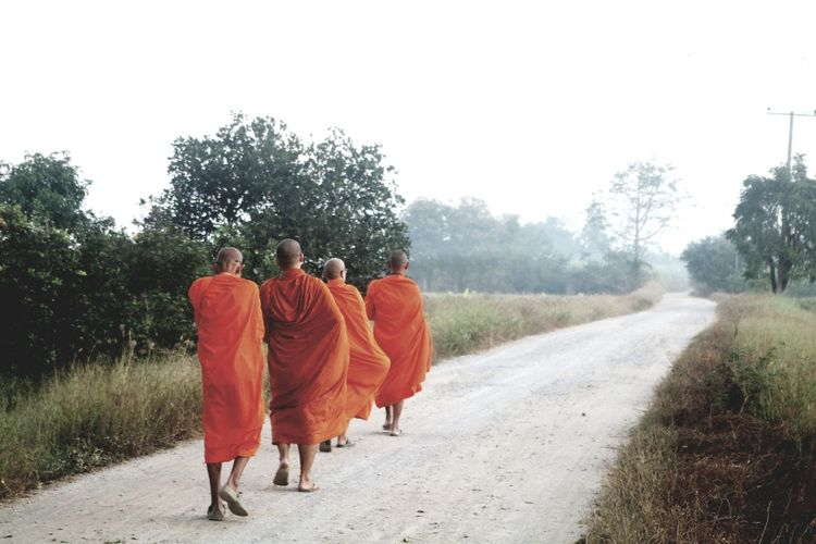 Modern Workplace Culture Walking Rear View Adult Togetherness People Full Length Traditional Clothing