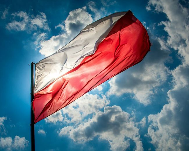 Poland Twierdzamodlin Travel Outdoors Enjoying Life Traveling Eyeem Photography Windy Flag Polska