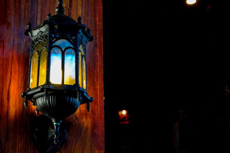 Lantern in the dark Lamp Hanging Religion Close-up Architecture Lantern Place Of Worship Temple Paper Lantern Chinese Lantern Oil Lamp