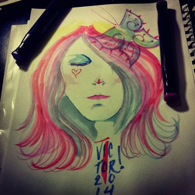 A quick marker sketch ,enjoy:!) Art, Drawing, Creativity Faces Of EyeEm Check This Out Illustrations