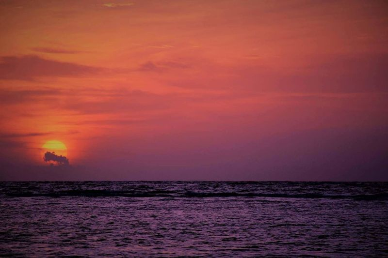 Sunset Sea Dramatic Sky Nature Horizon Over Water Outdoors Beauty In Nature Scenics Travel Vacations No People Travel Destinations Water Red Landscape Sky Power In Nature Day The Week On EyeEm Mix Yourself A Good Time Perspectives On Nature