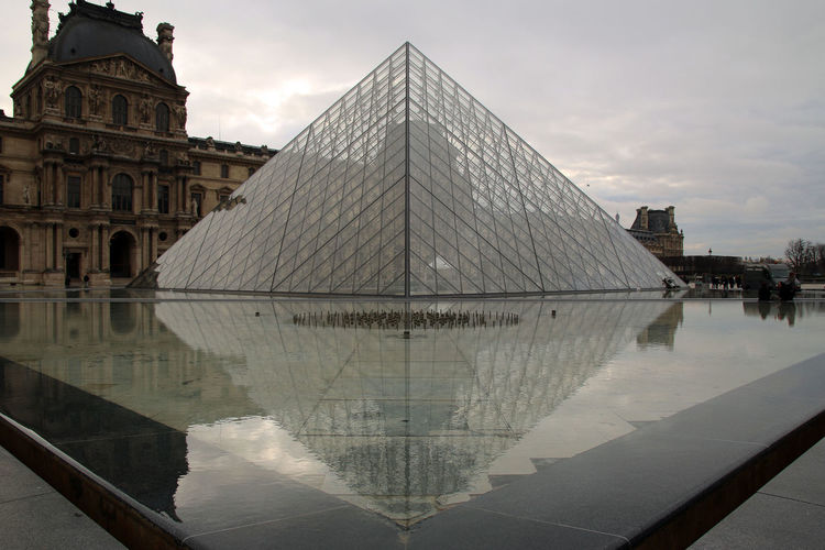 Louvre Pyramid Reflection Louvremuseum