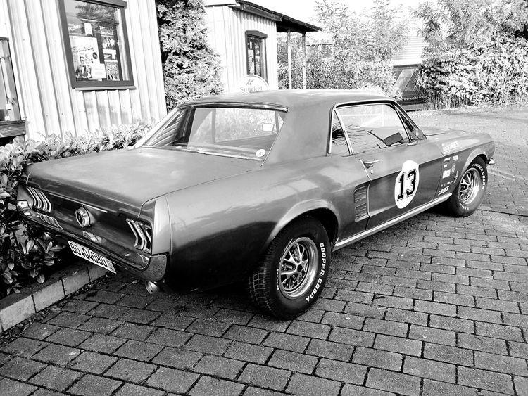 Car Mustang GT Old Blackandwhite