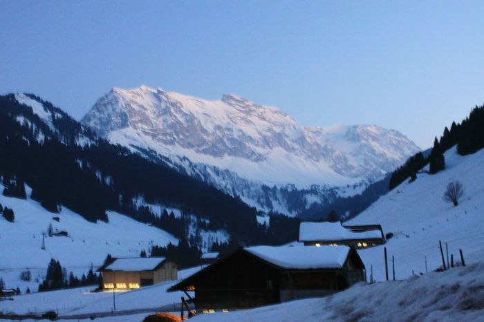 Switzerland Swiss Mountains Adelboden Snow Winter Mountain Cold Temperature Beauty In Nature Scenics Landscape Night HJB EyeEmNewHere