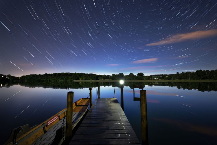 Katzensee Zürich Astronomy Beauty In Nature Idyllic Lake Landscape Long Exposure Nature Night No People Outdoors Reflection Scenics - Nature Sky Space Star Star - Space Star Field Star Trail Switzerland The Way Forward Tranquil Scene Tranquility Water