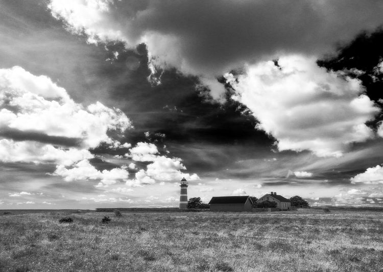Lighthouse on Gotland Monochrome Blackandwhite B & W  Landscape_photography Lighthouse Clouds And Sky