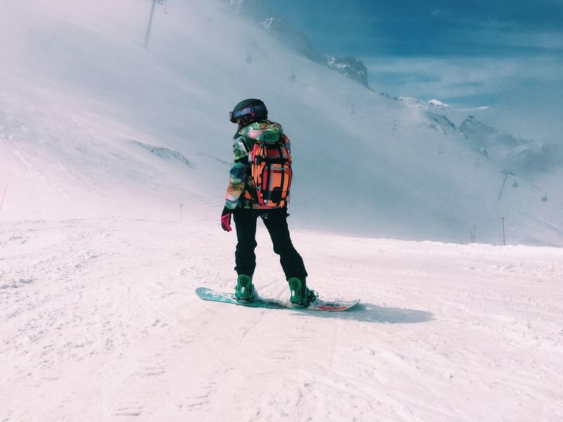 EyeEmNewHere Winter Snow Cold Temperature Full Length Ski Goggles One Person Ski Holiday Real People Ski-wear Skiing Headwear Leisure Activity Vacations Adventure Warm Clothing Day Ski Pole Mountain Winter Sport Snowboarding Snowboard The Great Outdoors - 2017 EyeEm Awards Shades Of Winter
