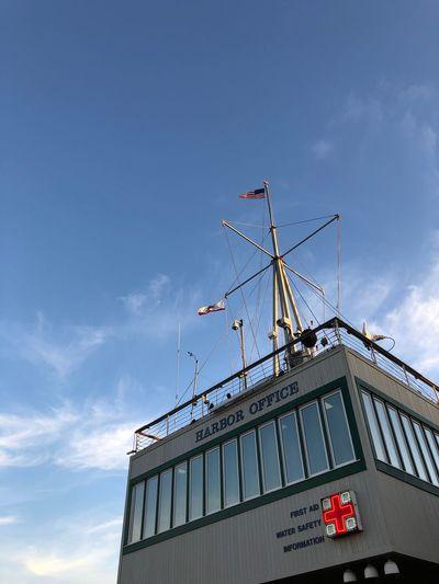 …at #SantaMonicaPier! Harbor Pier Sky Built Structure Low Angle View Cloud - Sky Building Exterior Amusement Park Sign