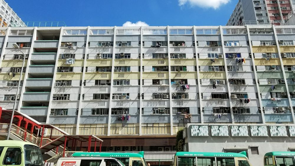 Choi Hung No People Sky Clear Sky Multi Colored Day City Life Outdoors Low Angle View City Built Structure Architecture Building Exterior Choi Hung Estate