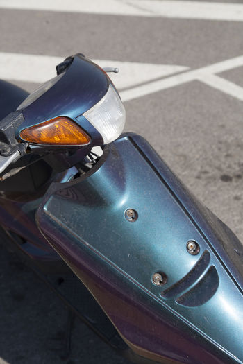 Design Focus On Foreground Moped Motorbike Motorcycle Motorcycles Road Transportation Vehicle