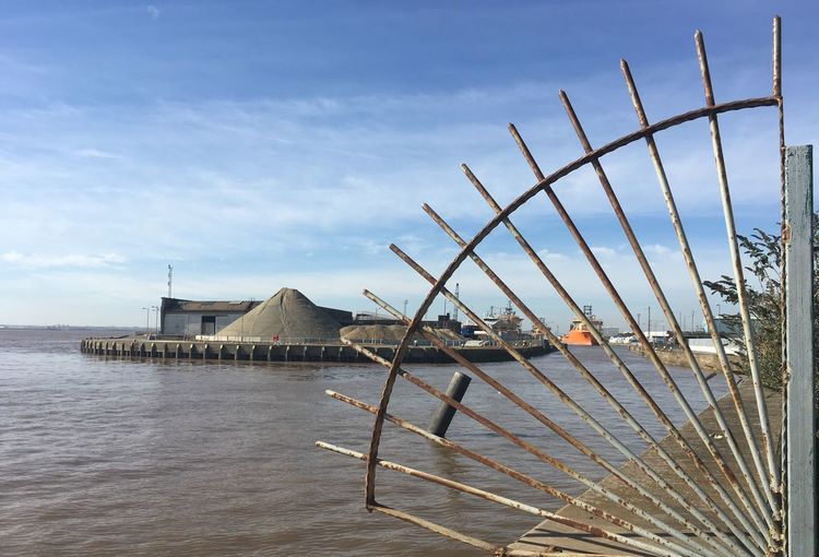 Waterfront Port Of Hull Hull City Of Culture 2017 Cityofculture  Hull2017 Docks Dockside Wrought Iron River Humber Humber Estuary Containers Ships