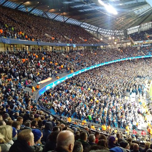 Sitting in Manchester City aisle to actually support our Big Real Madrid! Hala Madrid! Wish you all the very best!