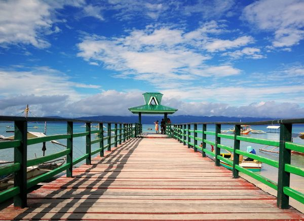 bright sunny day at the port Pier Sea Beach Outdoors Sky Jetty Water Travel Destinations Bridge - Man Made Structure Scenics Summer Vacations