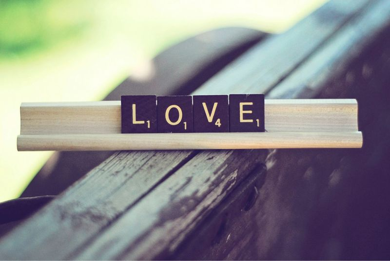 Love..... Spread The Word No People Text Communication Wood - Material Scrabble Tiles Love Simplicity Alphabet Words Words To Live By