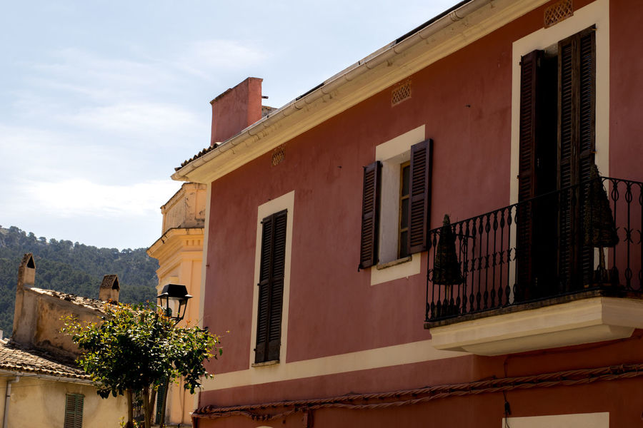 Andratx Architecture Balcony Building Exterior Built Structure Day Low Angle View Majorca Mallorca Nature No People Outdoors Residential Building Sky SPAIN Tree Window